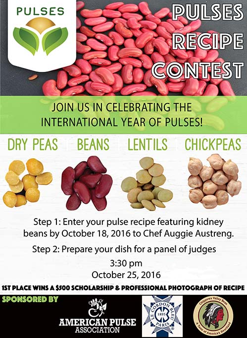 Pulses Recipe Contest poster - Enter Pulse recipes featuring kidney beans