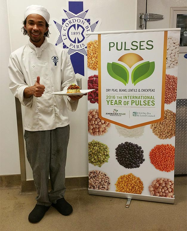 The winner of the Le Cordon Bleu pulses recipe contest