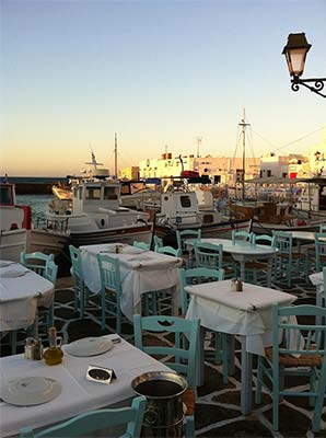 "Papadakis restaurant on Paros captured the ""pulse"" of ancient-to-modern Greek cuisine in the 90's."