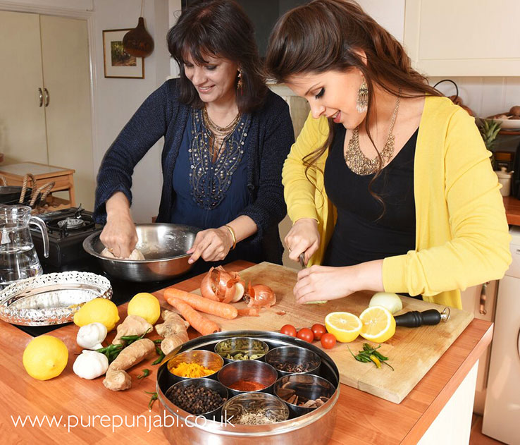 Safia and Surinder of Pure Punjabi cooking