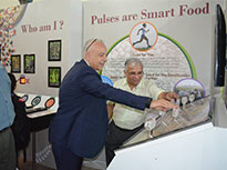 "Turkish Consul General in Mumbai, H. E. Mr. Erdal Sabri Ergen (pictured), opened the exhibition ""The Future of the Food: Pules"" yesterday (15th September)."