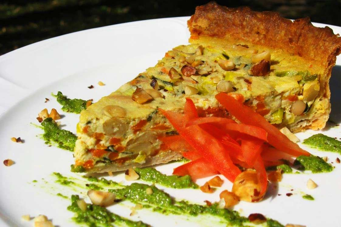 Italian Cannellini Bean Quiche and Roasted Hazelnut Canneloni Bean Pesto