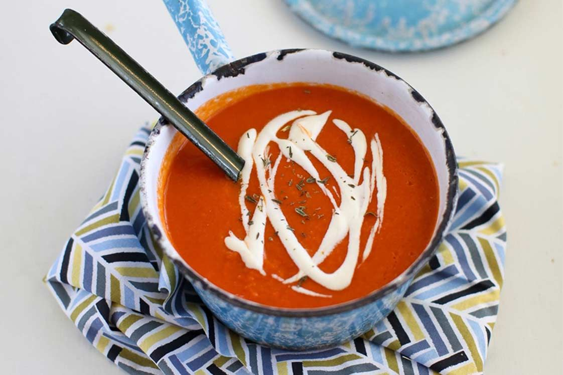 Cream of Tomato & Red Lentil Soup