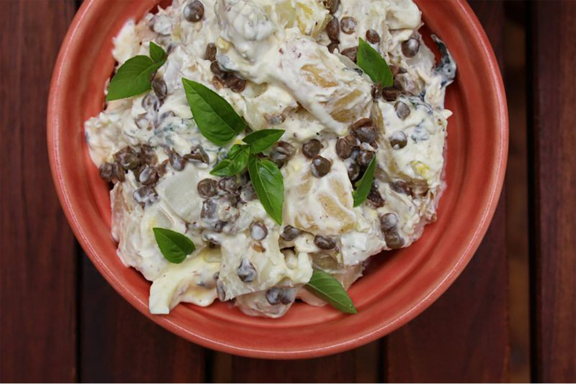 Creamy Lemon Basil Potato Salad Recipe — Dishmaps