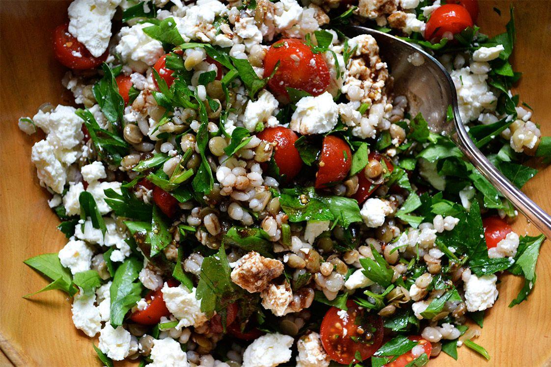 Greek-style Lentil & Barley Salad