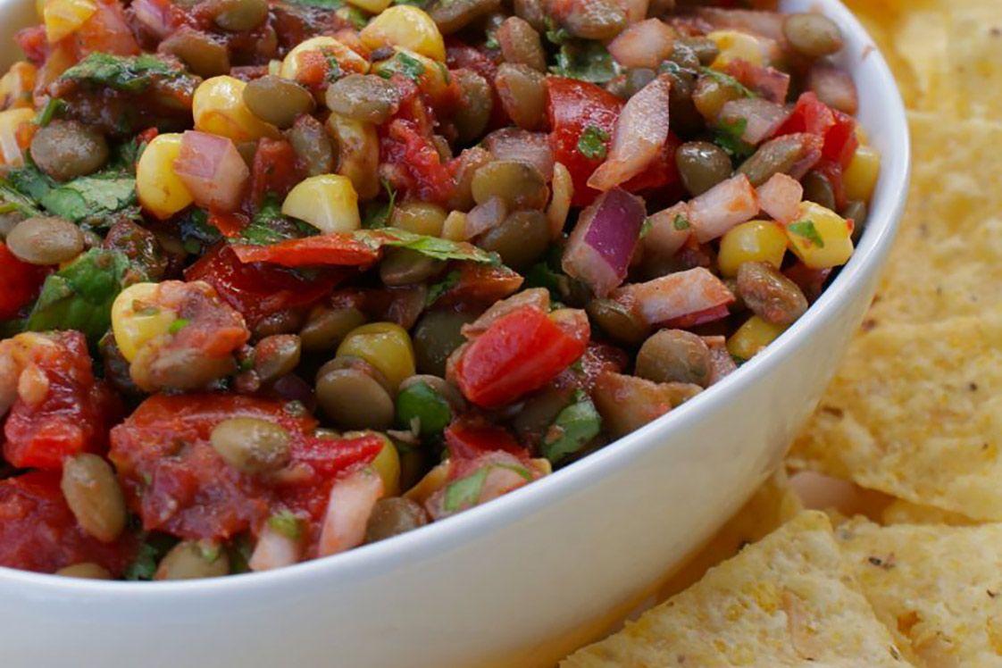 Lentil & Corn Chipotle Salsa