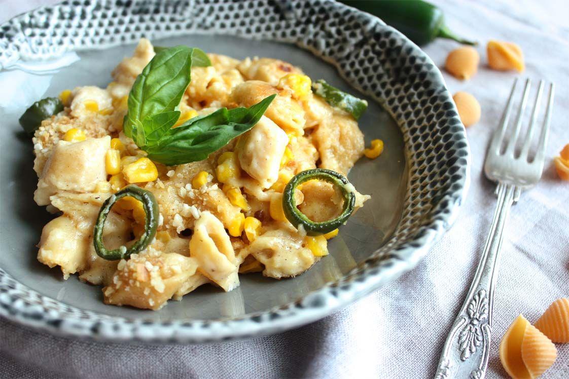 Jalapeño Cornbread Mac & Cheese