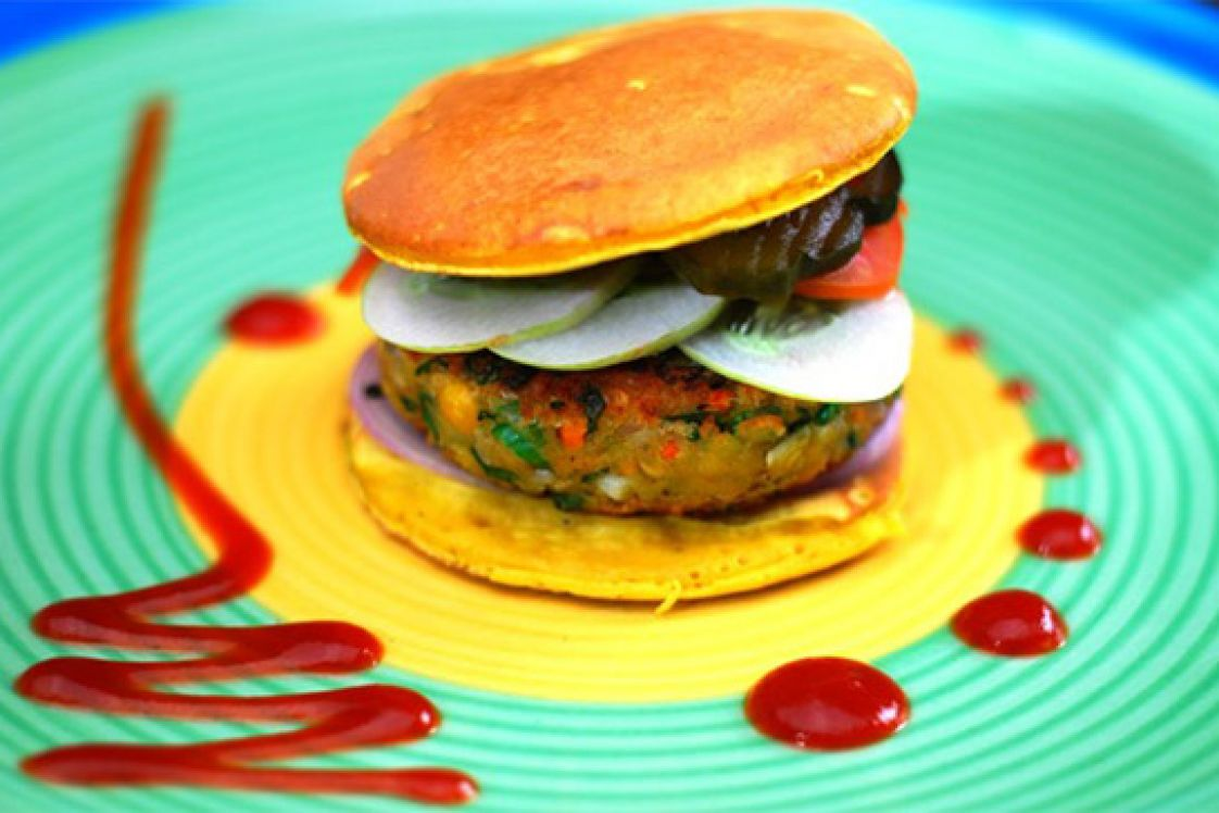 Lentil Pancake Burger