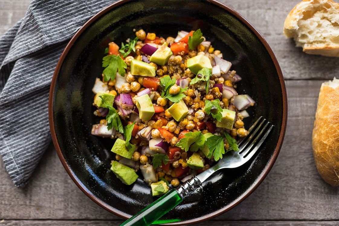 Charred Chickpea & Corn Salad
