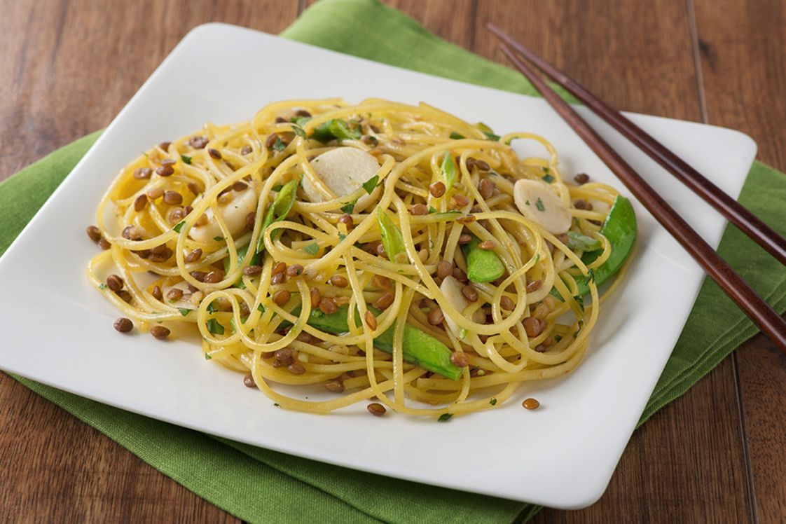 Chinese Lentil and Noodle Salad