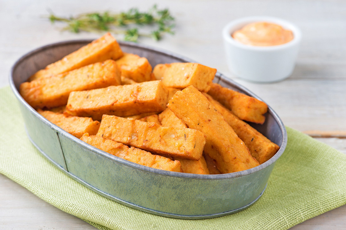 Chickpea Fries - Appetizers, Snacks & Sides Recipe