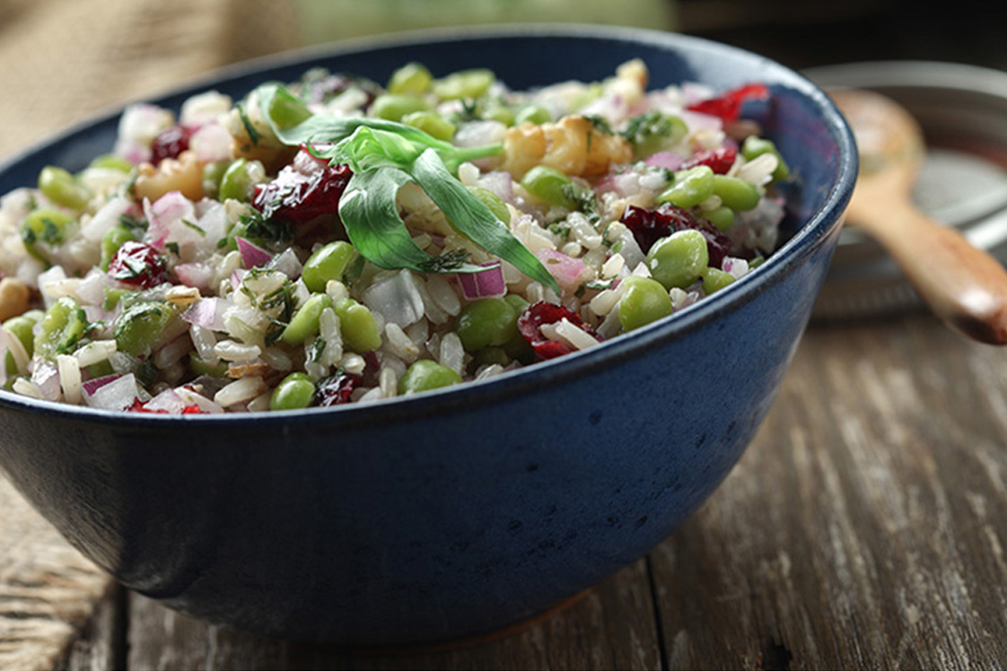 Green Split Pea Salad with Rice and Cranberries ...