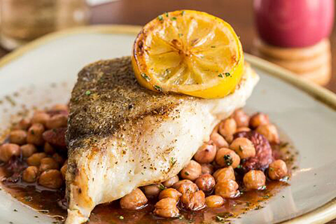 Baked Cod with Chickpeas