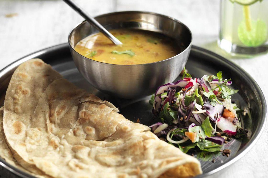 Asha's Tarka Dal & Roti