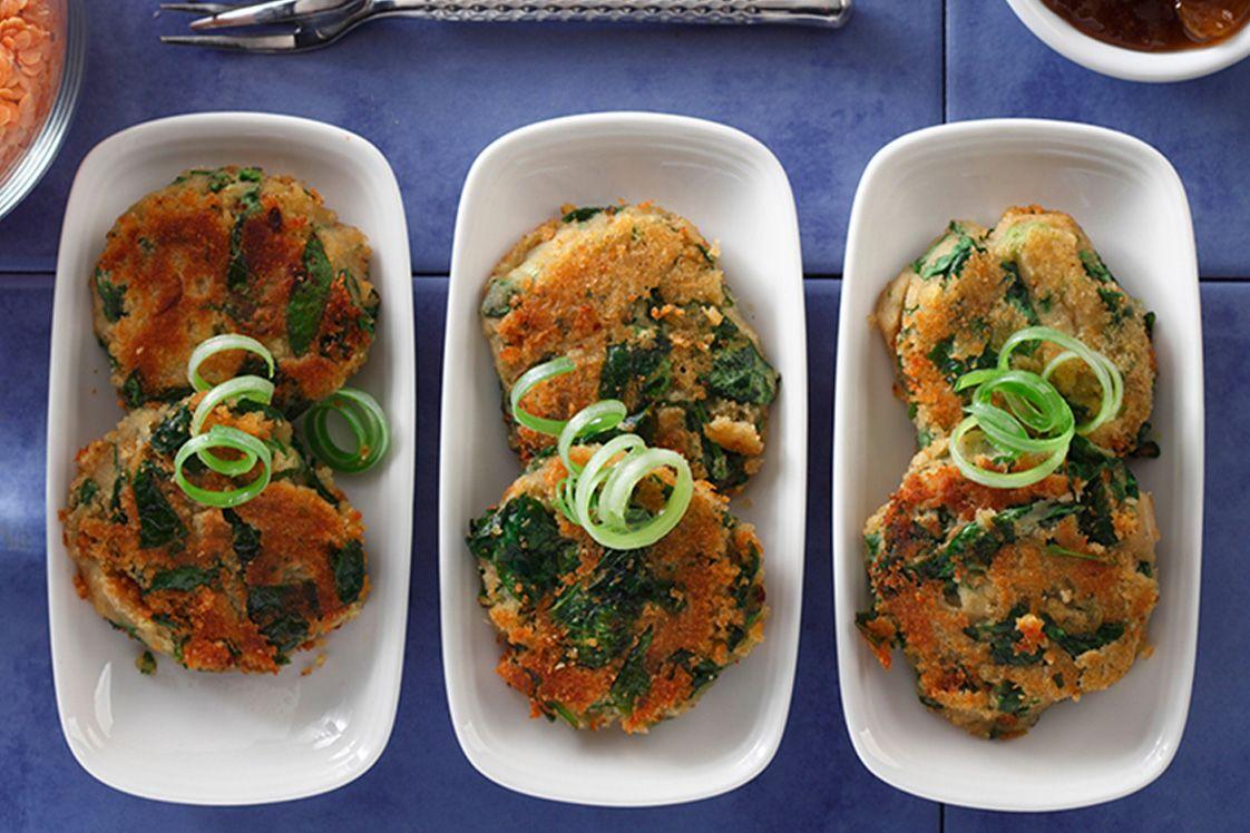 Lentil Spinach Appetizer
