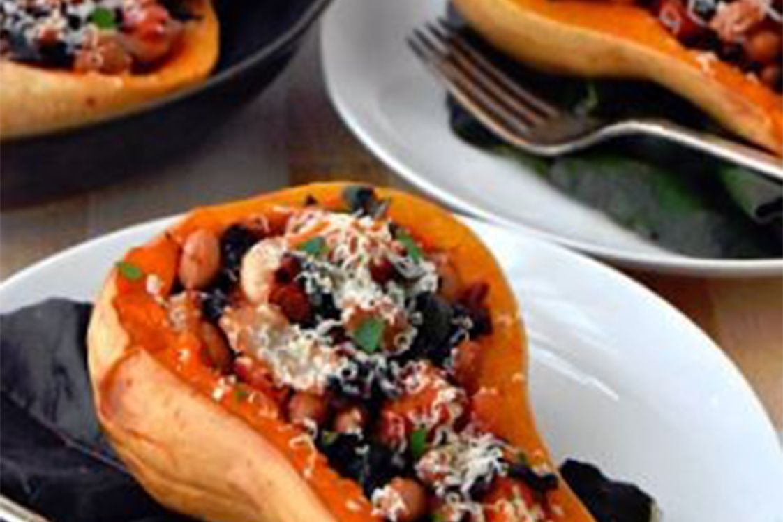 Mexican Stuffed Butternut Squash