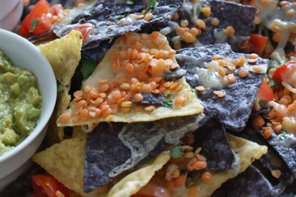 Nachos with Crisp Red Lentils