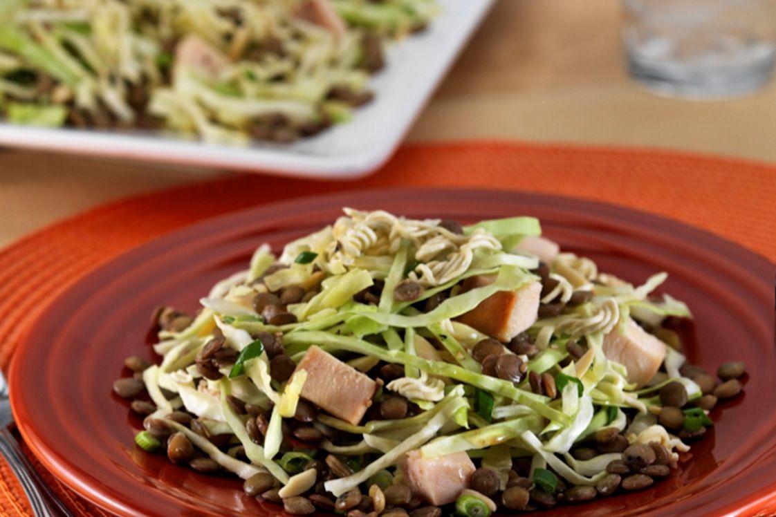 Oriental Chicken Salad with Lentils