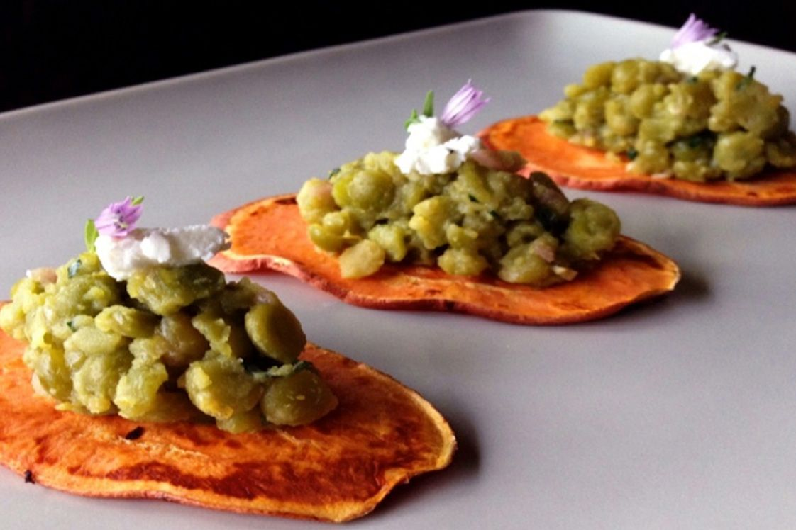 Split Pea Bruschetta