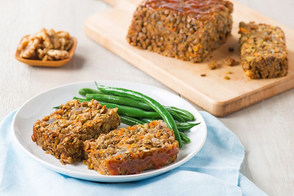 Vegan Lentil Walnut Loaf