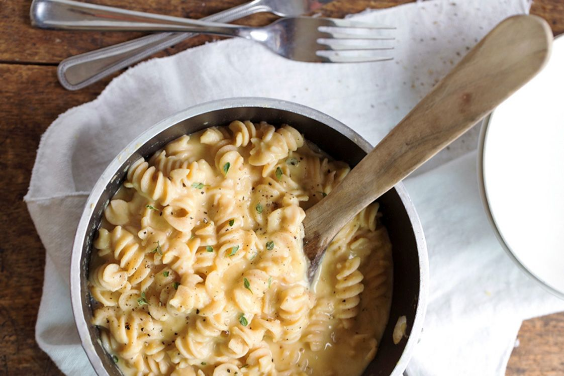 Yellow Split Pea Cheesy Pasta