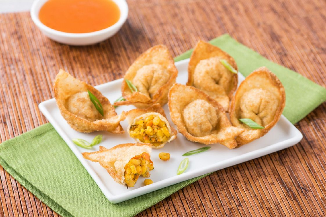 Yellow Split Pea Wontons