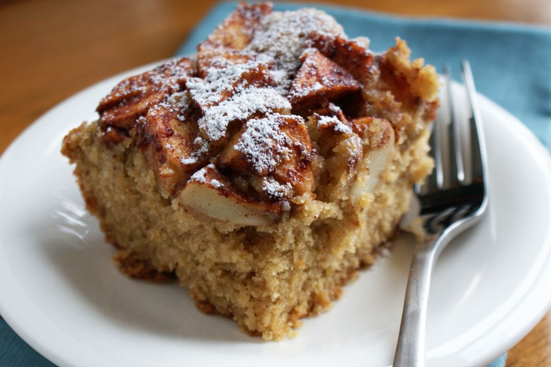Apple Cake with Chickpea Puree