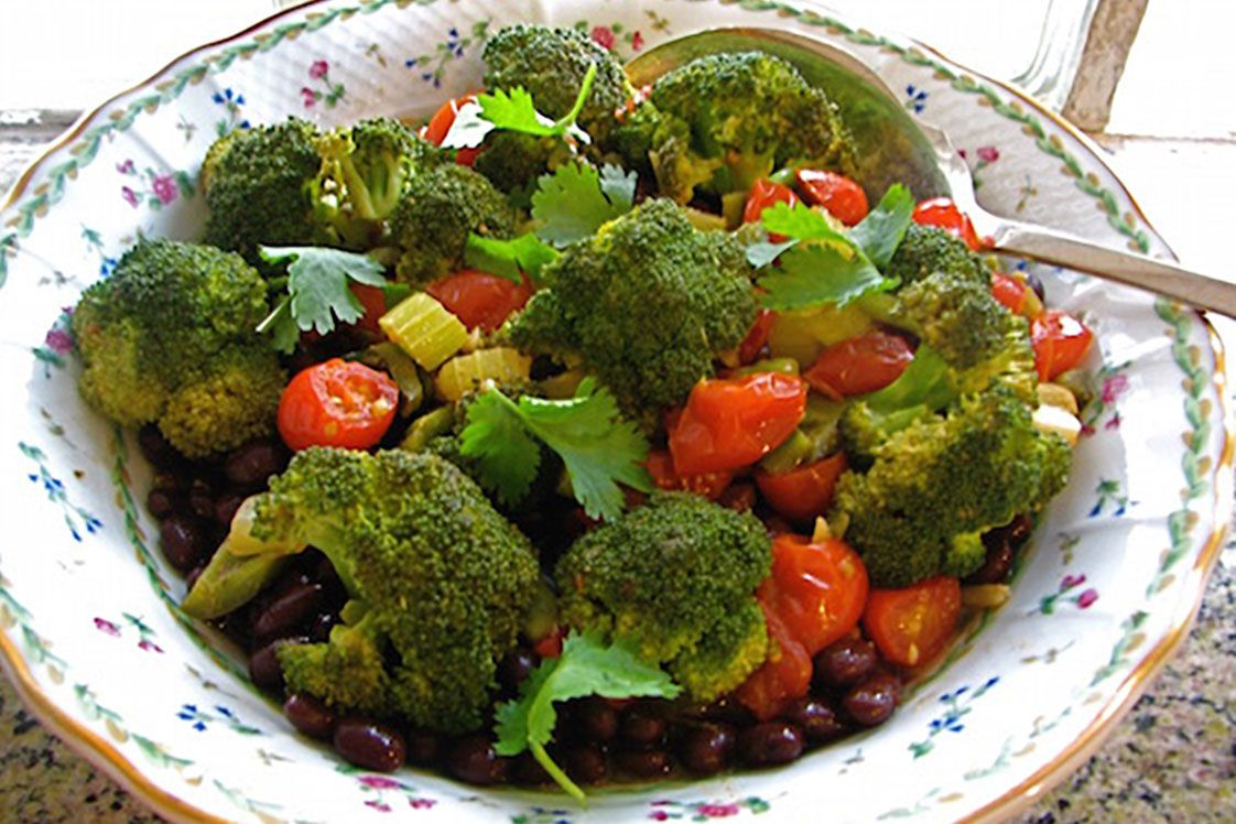 Friendly Broccoli and Black Beans With Sherry