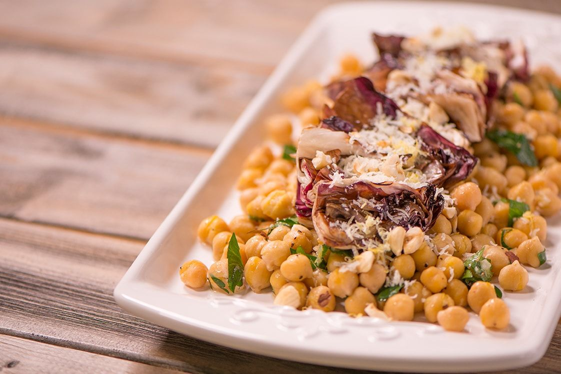 Charred Radicchio and Chickpea Salad