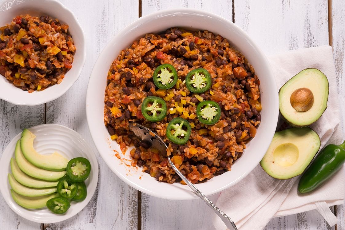 Easy Mexican Brown Rice and Beans