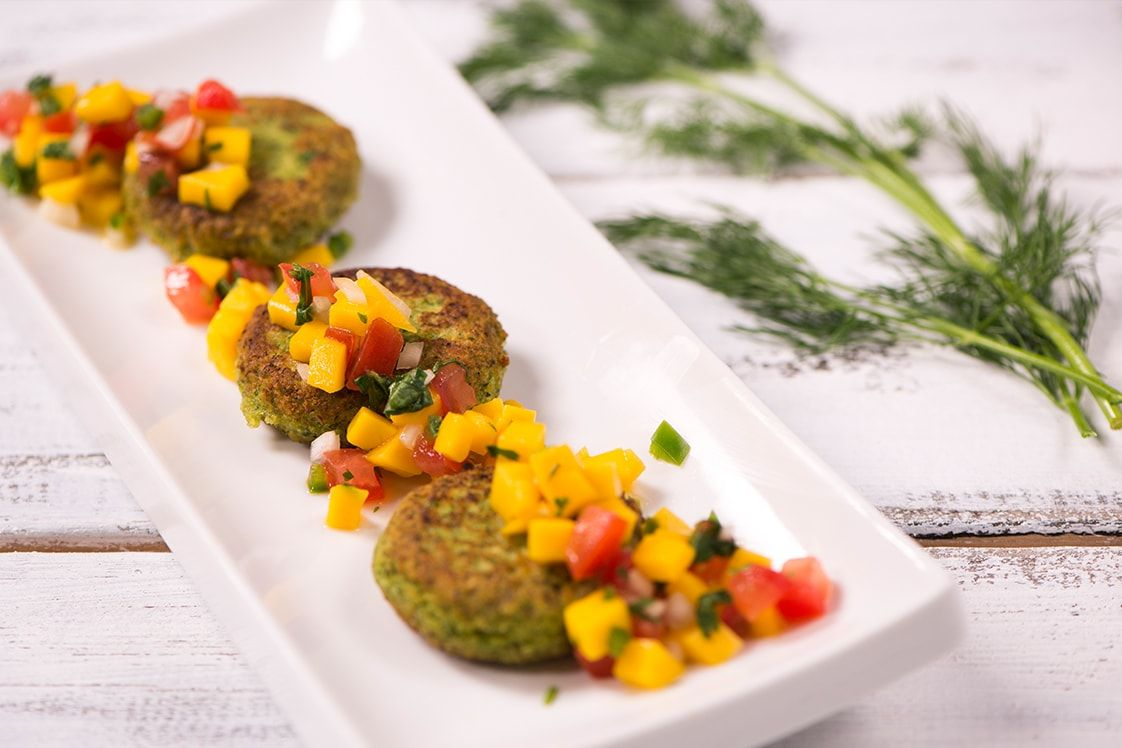 Green Lentil, Zucchini and Garlic Falafel