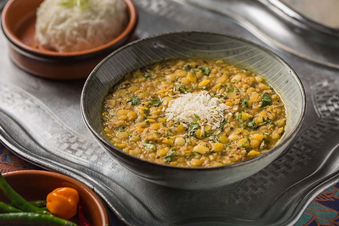 Sweet Bengal Gram Lentil Curry