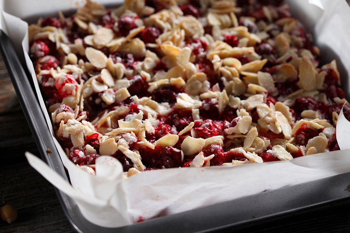 Cranberry White Chocolate Bars with Chickpeas