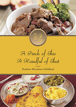 Book cover of 'A Pinch of This, A Handful of That' by Rushina Munshaw-Ghildiyal
