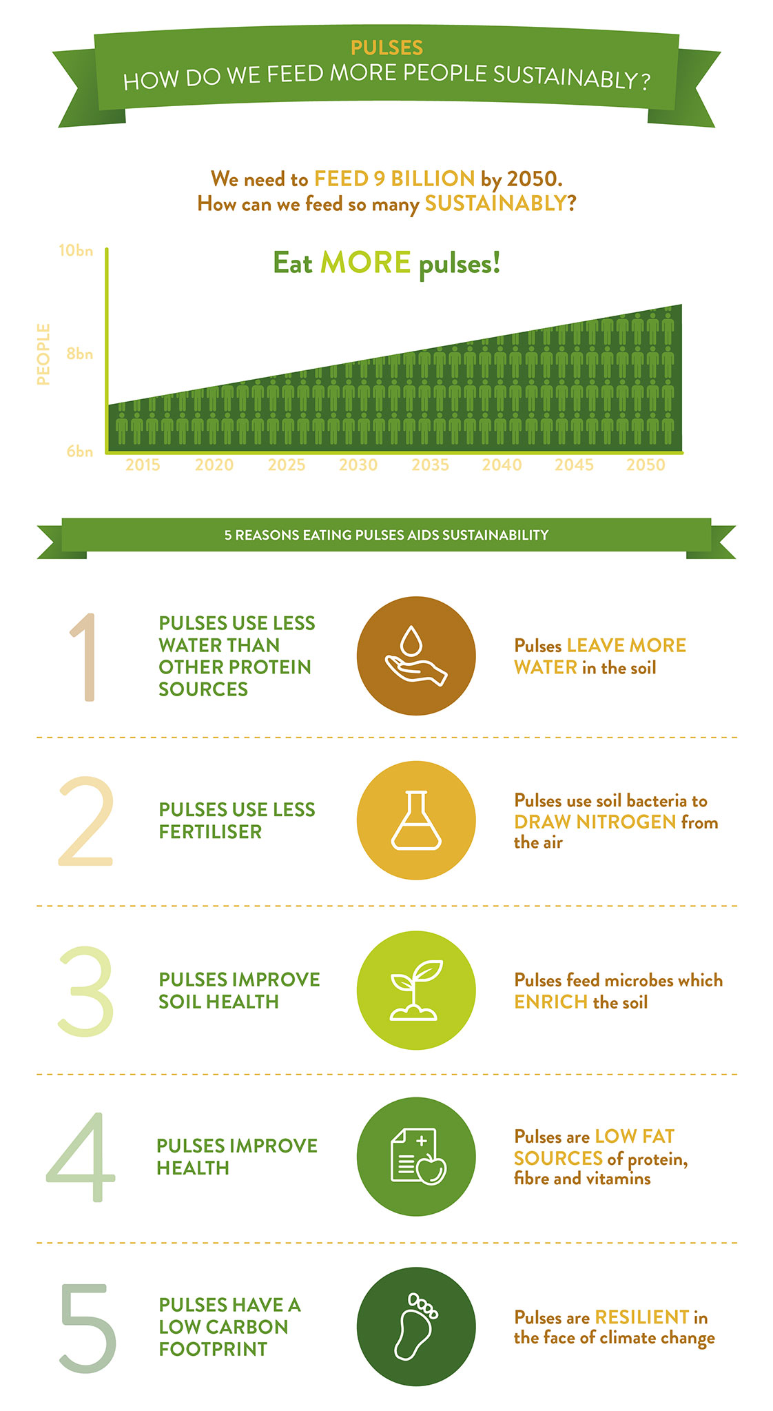 Infographic - How do we feed more people sustainably? Eat MORE Pulses!