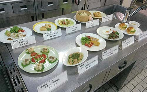 Japanese LovePulses Product Showcase dishes lined up on a cooking surface.