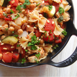 30 minute chicken and chickpea Skillet Pasta