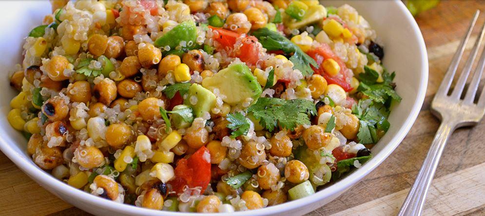 Charred Chickpea and Corn Salad